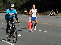 Leader at mile 14