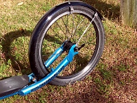 Valve-free Footbike wheel
