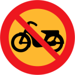 'No mopeds' sign