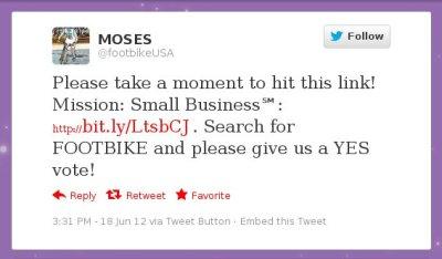 Moses' Poll Tweet